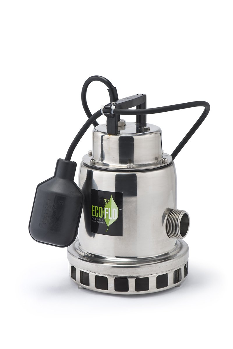 3,300 GPH ECO-FLO Products SEP75M Stainless Steel Waterfall Fountain Pump 3//4 HP