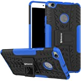 Bracevor Shockproof Xiaomi Mi Max 2 Hybrid Kickstand Back Case Defender Cover - Blue
