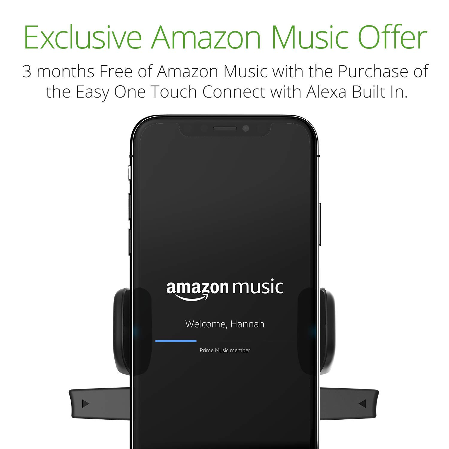 iOttie Easy One Touch Connect with Alexa Built in for iOS + Android Universal Car Mount by iOttie