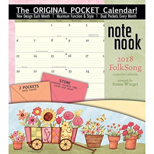 The LANG Companies WSBL Folk Song 2018 note Nook Office Wall Calendar (Note Nook Wall Calendar)