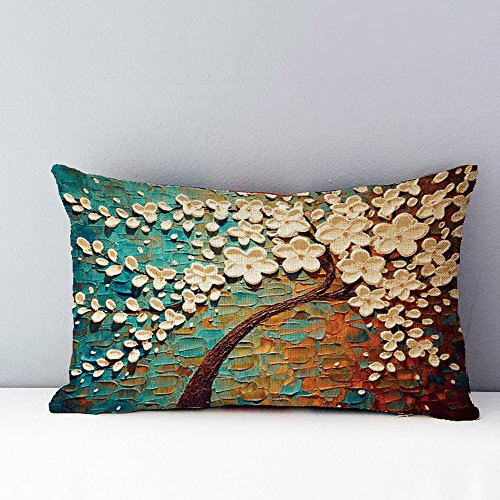 iLUGU Rectangle Pillow Cover Cushion Case Toss Pillowcase Hidden Zipper Closure 18
