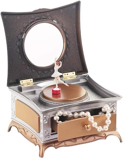 LIOOBO Caja de Joyas Musical Bailarina de Ballet Caja de ...