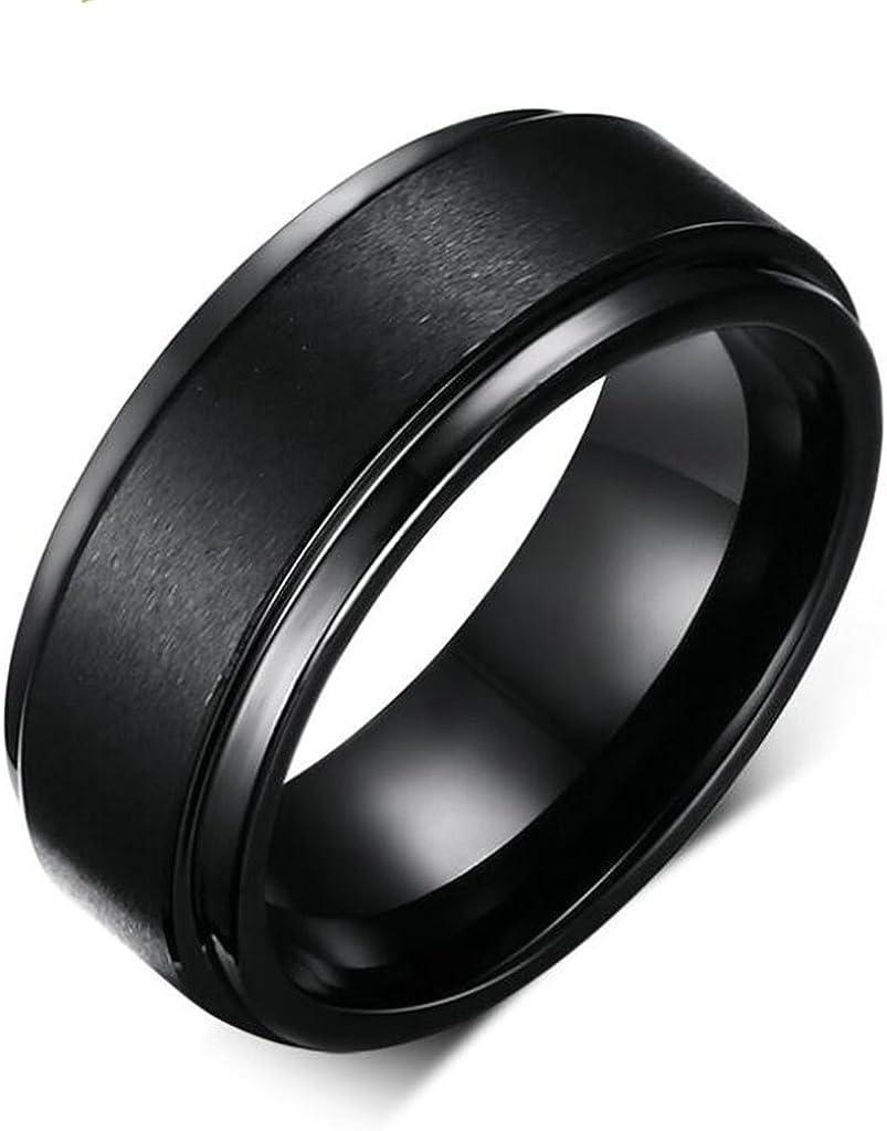 Xiangling joyería 8 mm Negro carburo de tungsteno Anillo Banda De Boda para Hombre Ajuste Cómodo con Acabado Mate: Xiangling: Amazon.es: Joyería