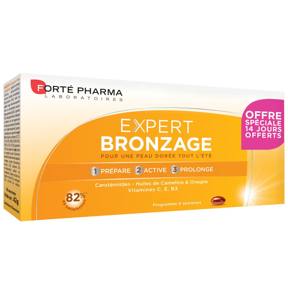 Forte Pharma expert bronzage 56 comprimés - 1: Amazon.es: Salud y cuidado personal