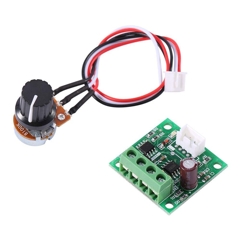 Regolatore DC PWM Controllo Low Voltage DC 1.8 V 3 V 5 V 6 V 12 V 2A Motor Control Board Regolatore di Velocit/à Modulo di Controllo Senza Interruttore del Potenziometro