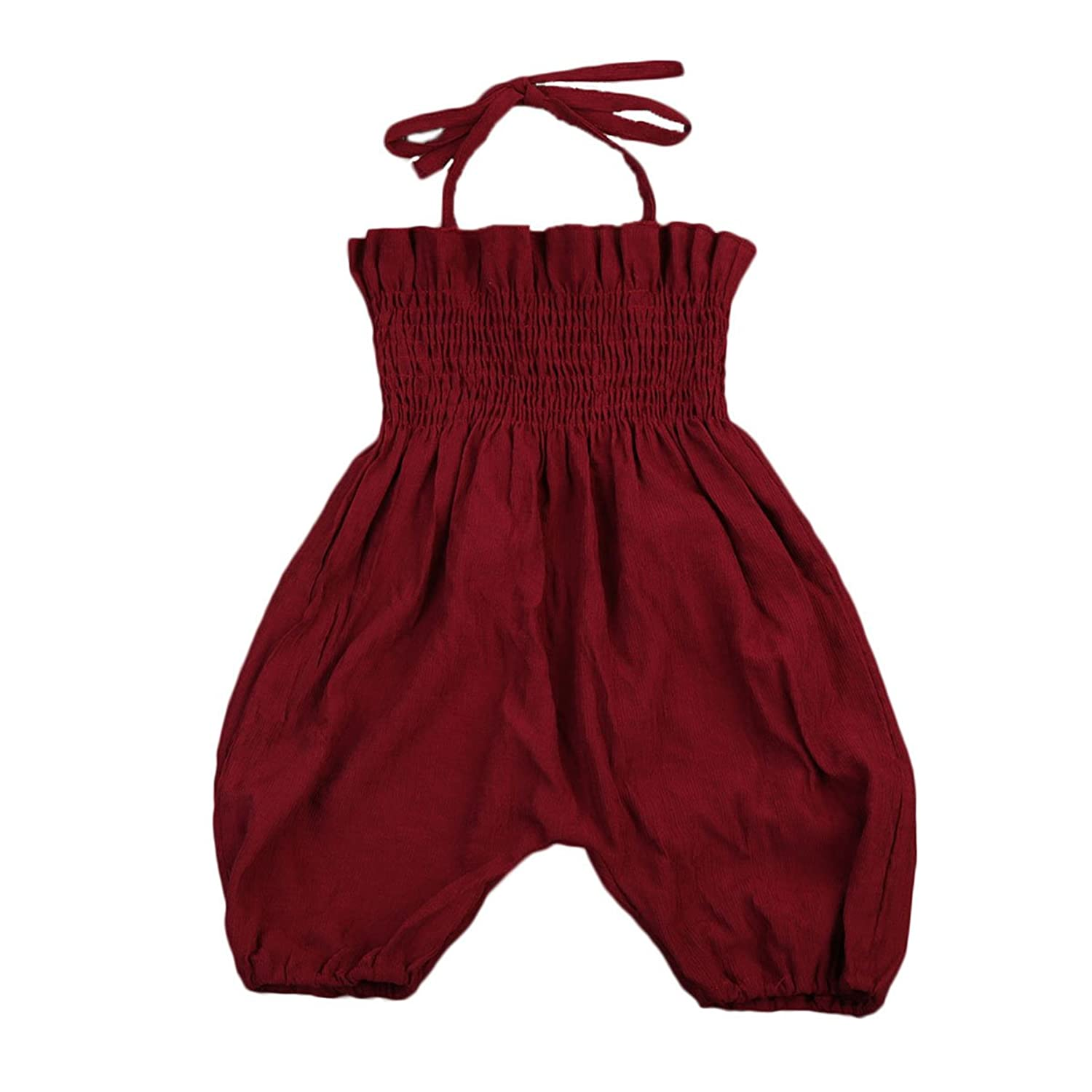 Bébé fille summer tube top bretelles salopette romper bodysuit pantalon