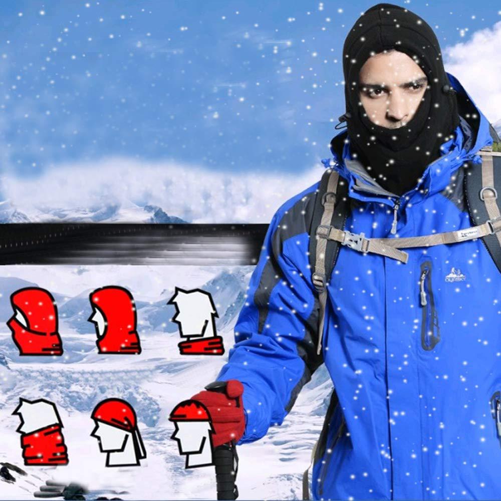 Motorcycle Skiing Winter Balaclava Fleece Hood Windproof Mask Adjustable Face Head Warmer for Outdoor Sports Cycling