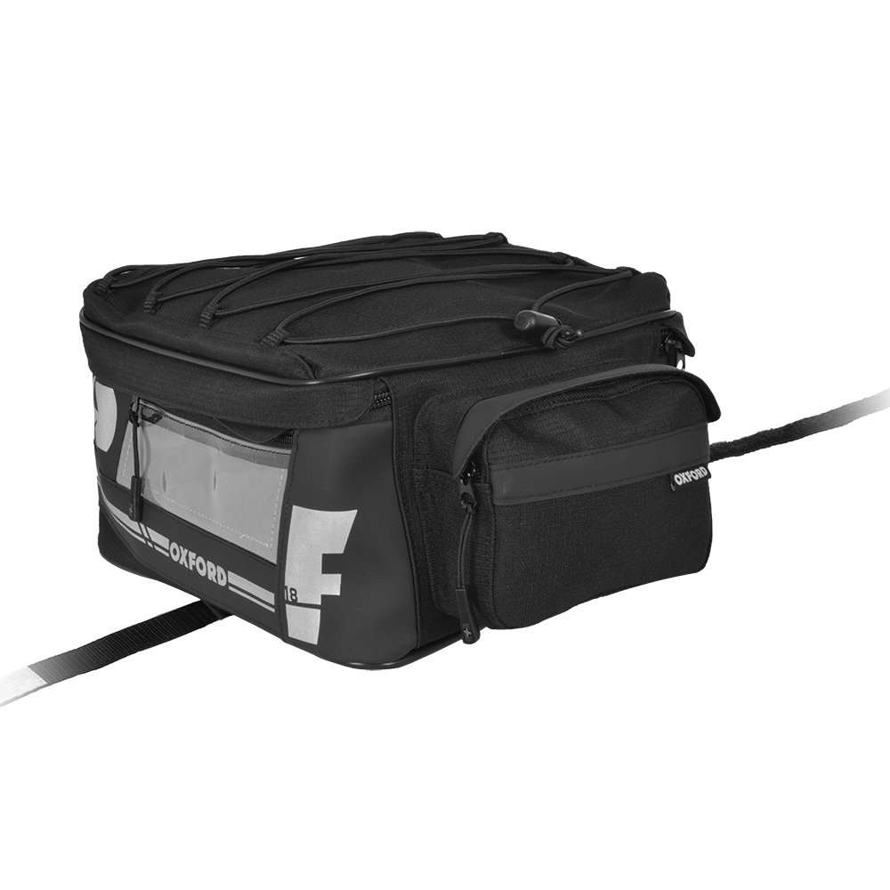 Oxford F1 Motorcycle Tail Bag Motorbike Touring Luggage Showerproof Tail Pack Small 18L Capacity