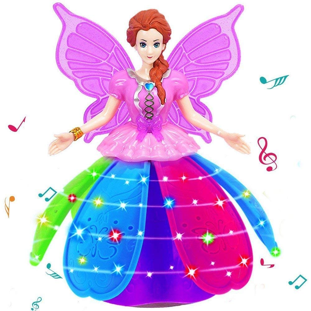 iGifts Inc. Girls Dancing Doll Fairy Robot Angel Toy w/ Spinning LED Lights & Music by iGifts Inc. (Image #3)