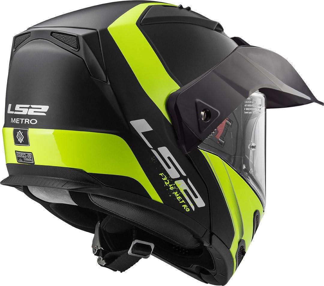 Casco moto LS2 METRO EVO RAPID MAT Nero Giallo XS Nero//Giallo