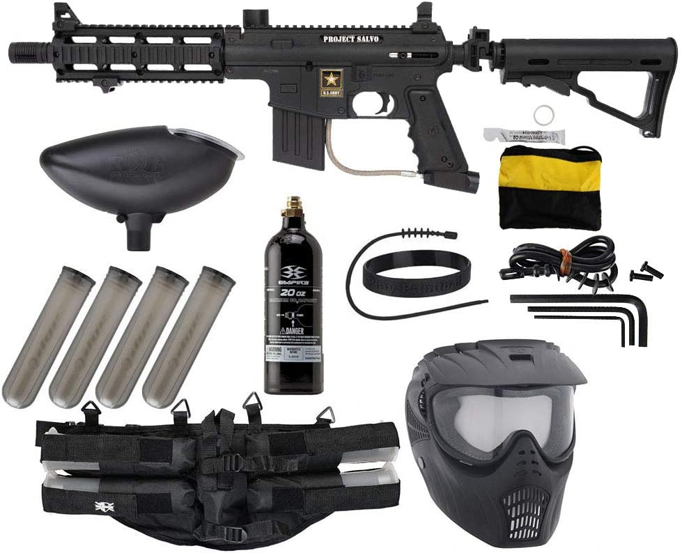 Amazon Com Action Village Tippmann Sierra One Paintball Gun Epic Package Kit Black Sports Outdoors