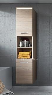 Badezimmer Schrank Montreal 131 cm Sonoma Eiche – Regel Schrank ...