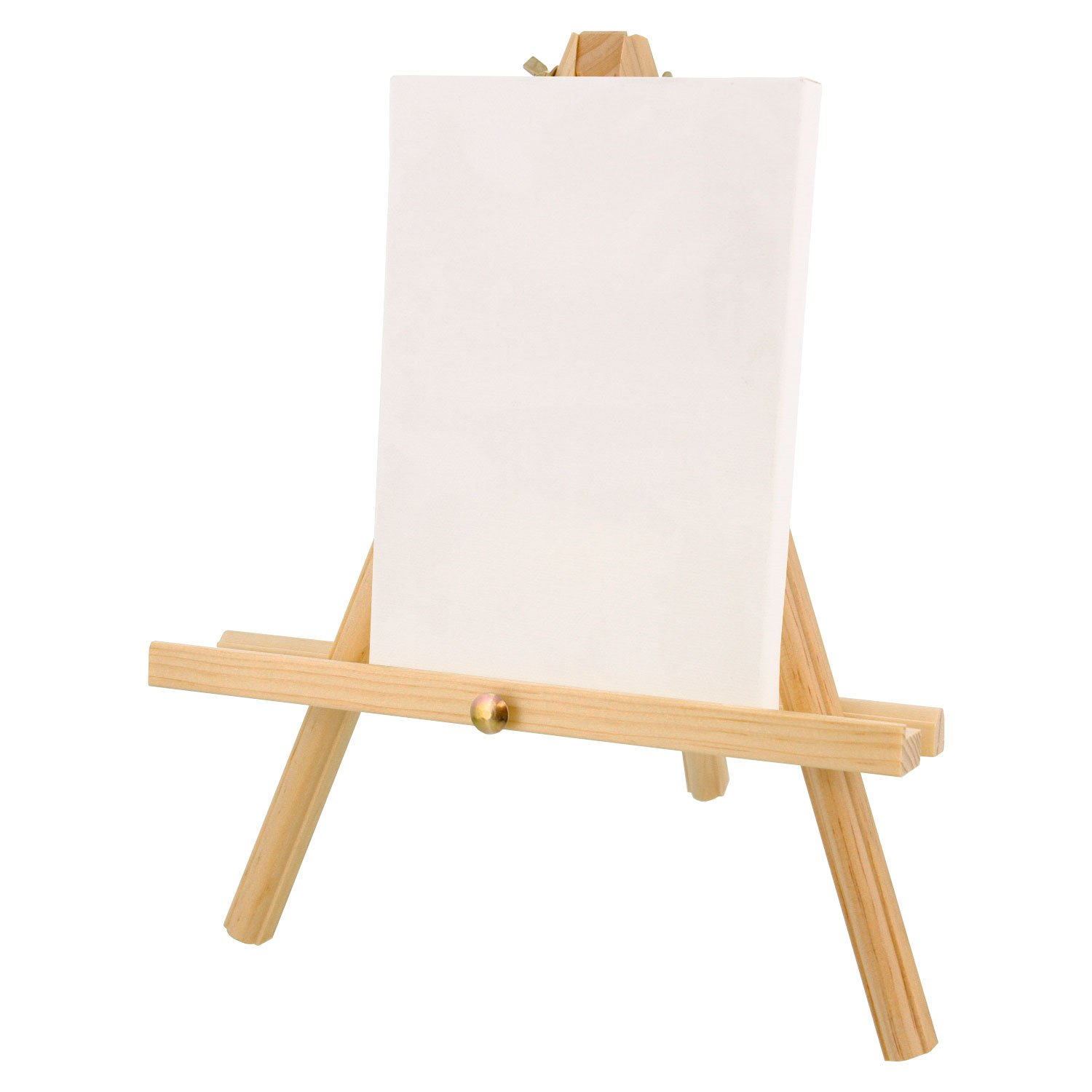 Pack of 4 Easels US Art Supply 12 inch Tall Tripod Easel Natural Pine Wood