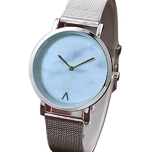 Scpink Relojes de Cuarzo para Mujeres, Relojes de señora de liquidación a la Venta Relojes analógicos de Acero Inoxidable para Mujer (Plateado): Amazon.es: ...