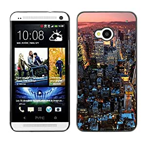 Hot Style Cell Phone PC Hard Case Cover // M00103147 cityscapes photos sunset // HTC One M7