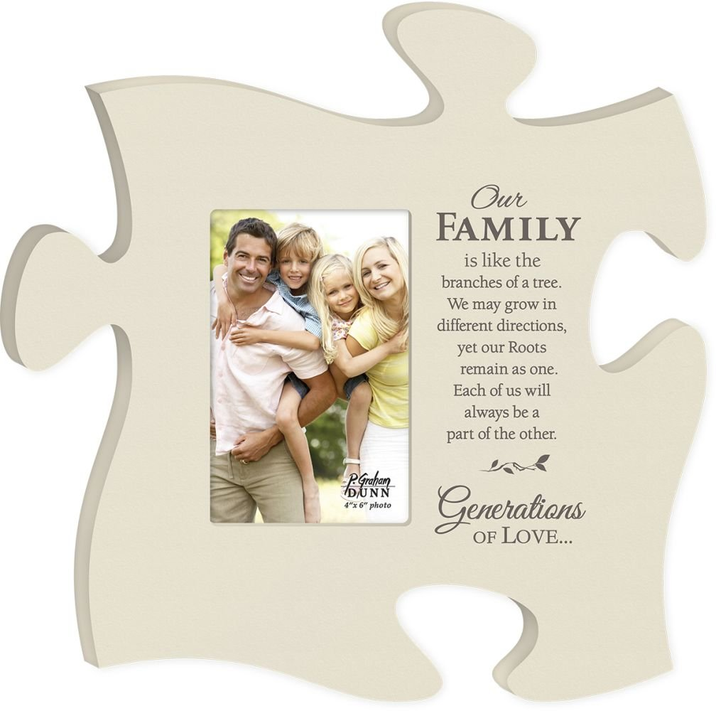 Amazon our family branches of a tree black 22 x 13 wall amazon our family branches of a tree black 22 x 13 wall hanging wood puzzle piece photo frame home kitchen jeuxipadfo Images
