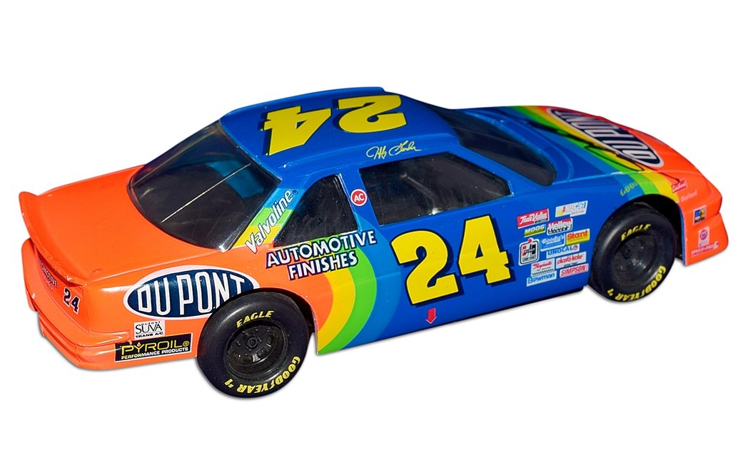 AUTOGRAPHED 1993 Jeff Gordon #24 DuPont Rainbow Warrior ...