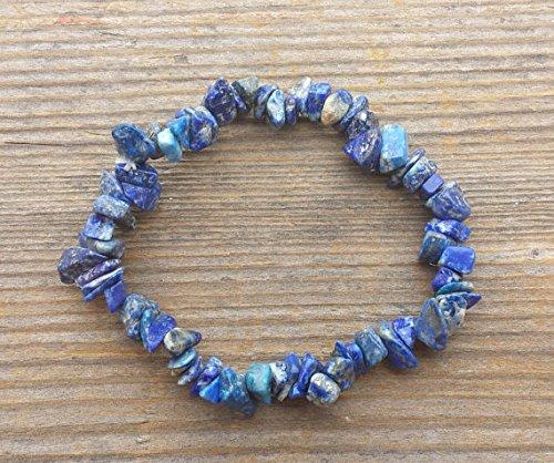 [A&S Crystals] LAPIS LAZULI Natural Stone Gemstone Stretchy Chip Bracelet