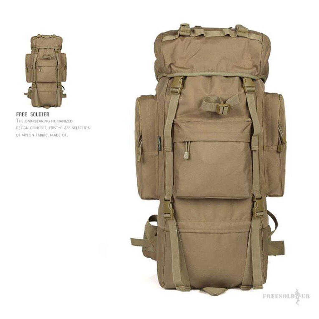 EST007® soldaten freiheit im freien bergsteigen taschen 65l rucksack reise überdimensionalen bergreisetasche mit großer kapazität rucksack 65 liter f7