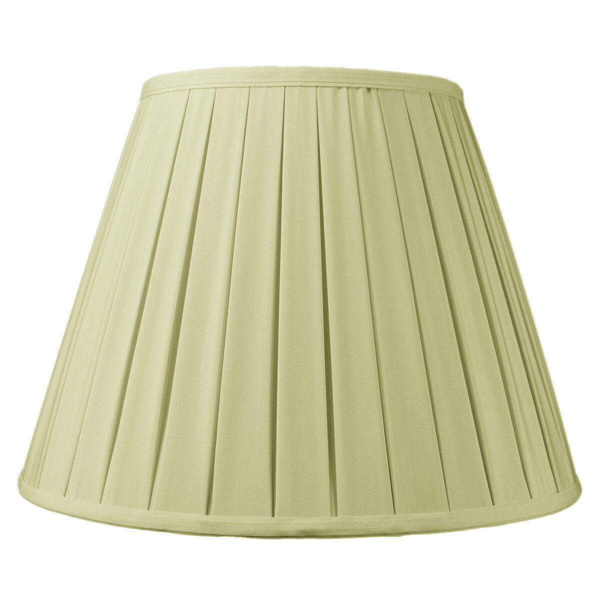9x16x12 Empire Box Pleat Lampshade Eggshell with Brass Spider fitter By Home Concept - Perfect for table and floor lamps - Large, Egg Shell