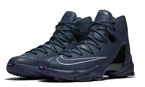 ea6b1b258fb44 NIKE Mens Lebron XIII Elite Lmtd Basketball Shoes (10.5 D(M) US, Squadron  Blue/Squadron Blue-Metallic Silver-Black)