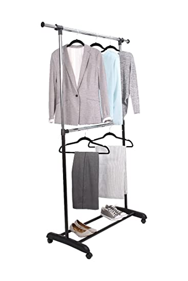 Delightful Mainstays Adjustable 2 Tier Garment Rack