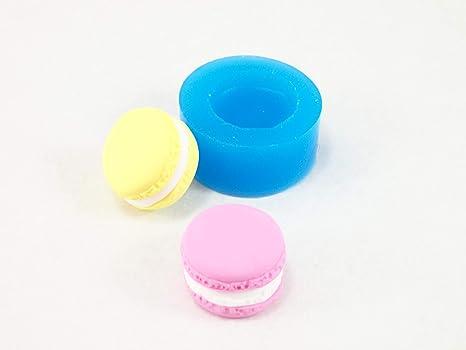 Molde silicona Gateau Macaron 2 cm para Fimo, plastilina, resine, porcelana fría
