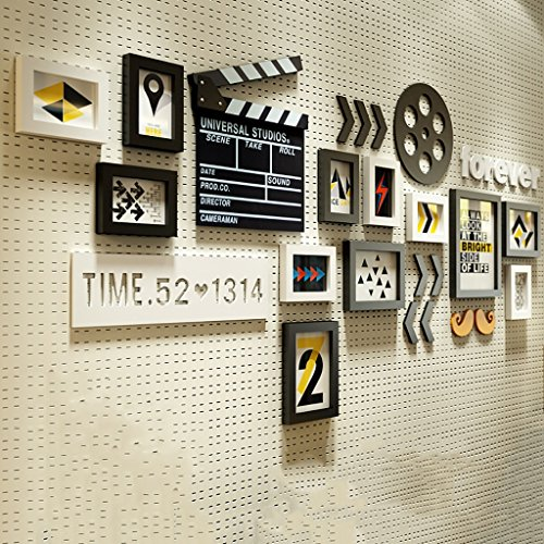 Emma Home Photo Wall Nordic Wood Frame Wall 12 Pieces Creative Bedroom Living Room Decoration Photo Wall - Stereoscopic Effect (Color : A)
