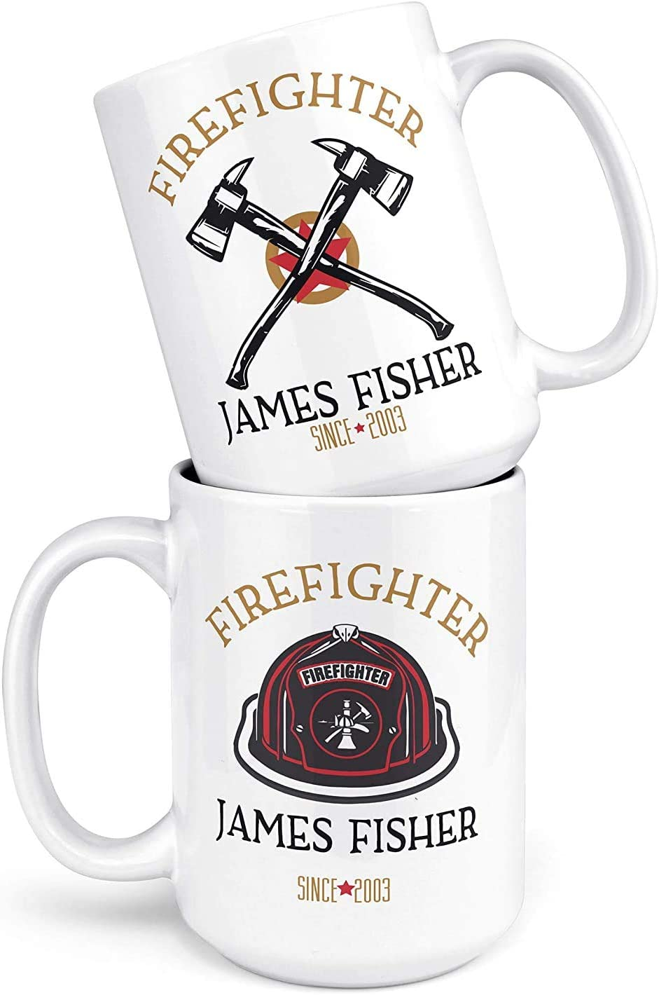 Perfect Firefighter Gift Cup Engine Man Firefighter Ceramic Coffee Mug