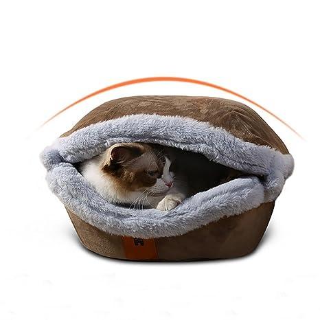 DAN Cama Gato Nido para Mascotas Cama de Perro Cálido Nido Algodón,Fácil Limpieza