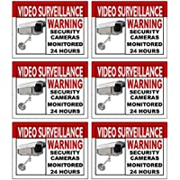 Best Quality Home Security Sign and Business Camera & Video Surveillance Sticker for Indoor Outdoor Use Long Lasting...