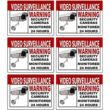 Amazoncom Best Quality Home Security Sign And Business Camera - Window decals for home security