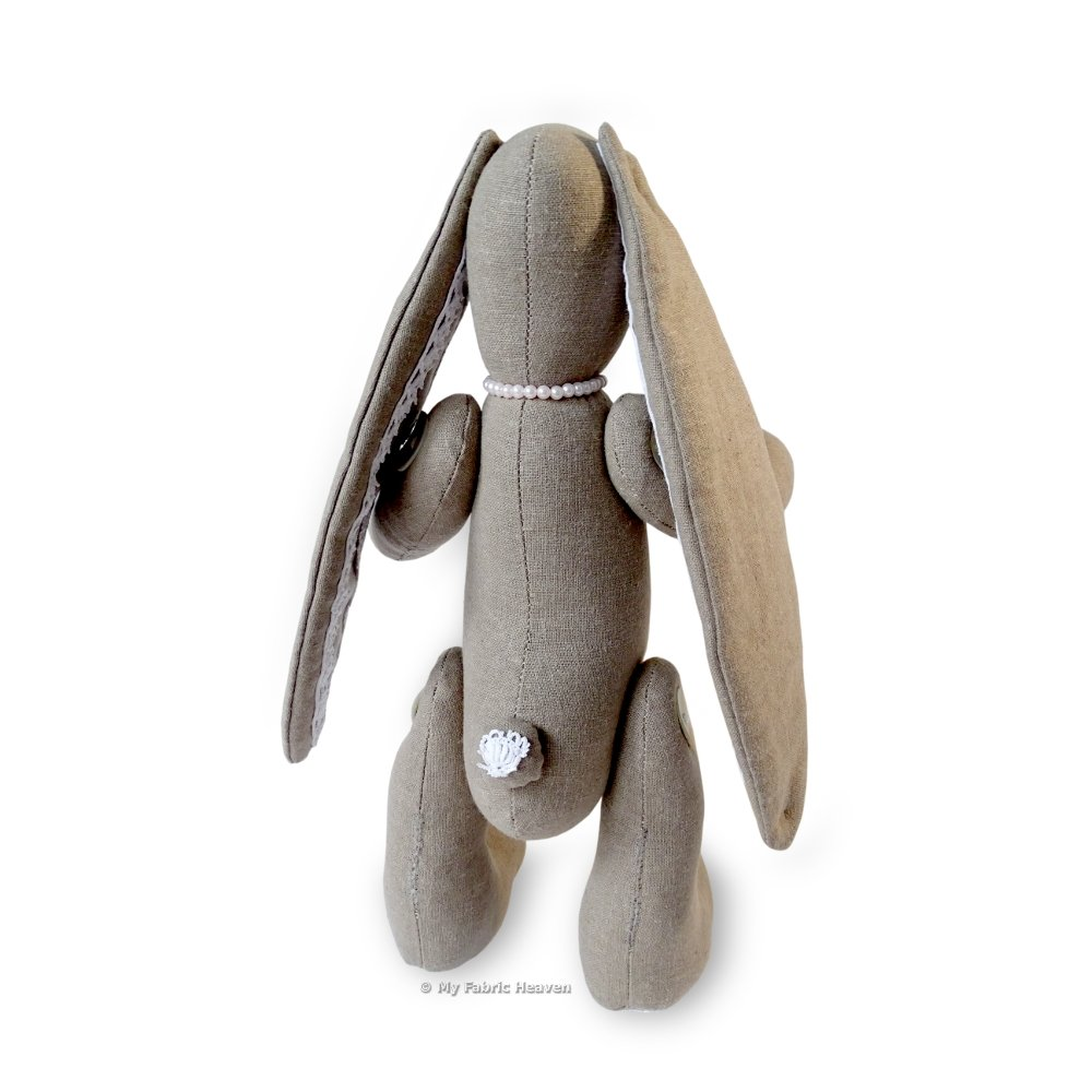 11 Inch Fabric Floppy Eared Bunny Rabbit /& Easy Tutorial Style Instructions.Lacy Bunny FREE POST Soft Suffed Toy Sewing PATTERN Independent Design