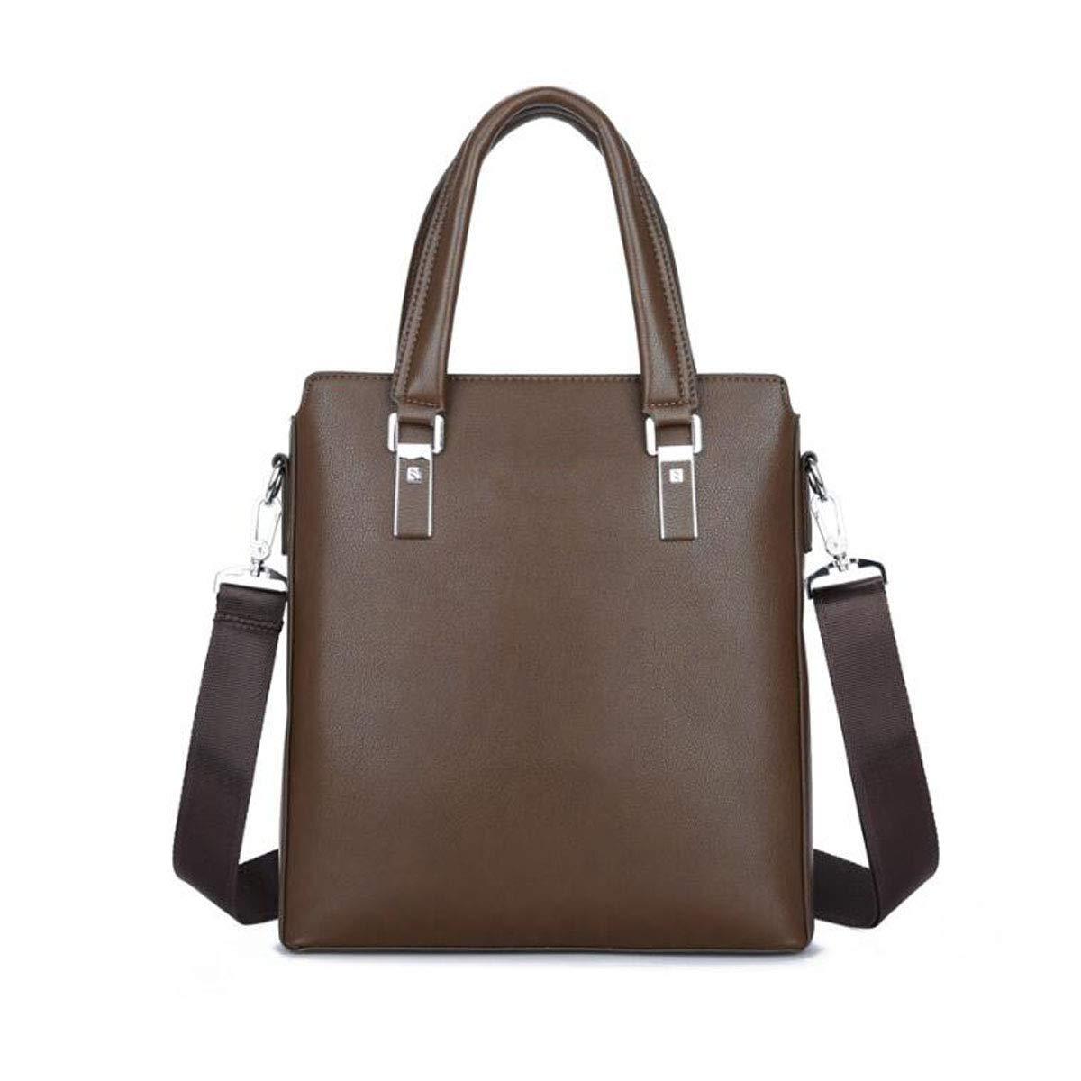 Color : Black Business Shoulder-Slung Computer Bag Size: 29832cm Concise Travel Chenjinxiang Briefcase Mens PU Leather Suitable for Work