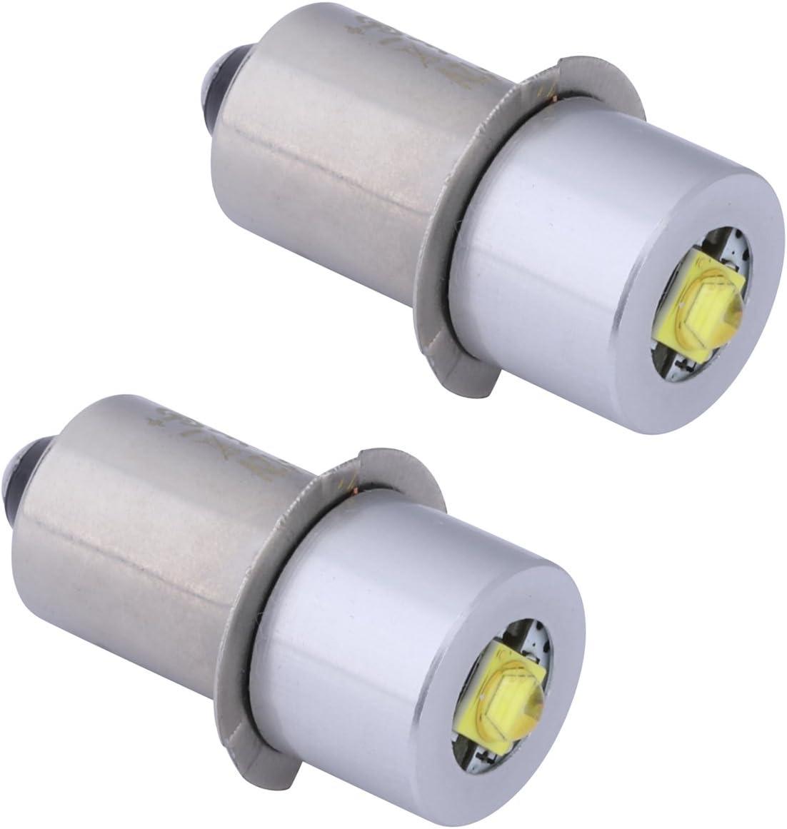 JOMITOP 18v 19.2v 6v 9v 12v 24v Volt Led Flashlight Bulb Led Upgrade Bulb for Ryobi Milwaukee Craftsman 6-24 Voltage Lamp Maglite Flashlight DC Replacement Bulbs Led Conversion Kit