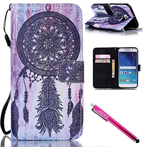Price comparison product image Galaxy S6 Case, Galaxy S6 Wallet Case, Firefish Stand Flip Folio Wallet Cover Shock Resistance Protective Shell with Cards Slots Magnetic Closure for Samsung Galaxy S6-Blacknet