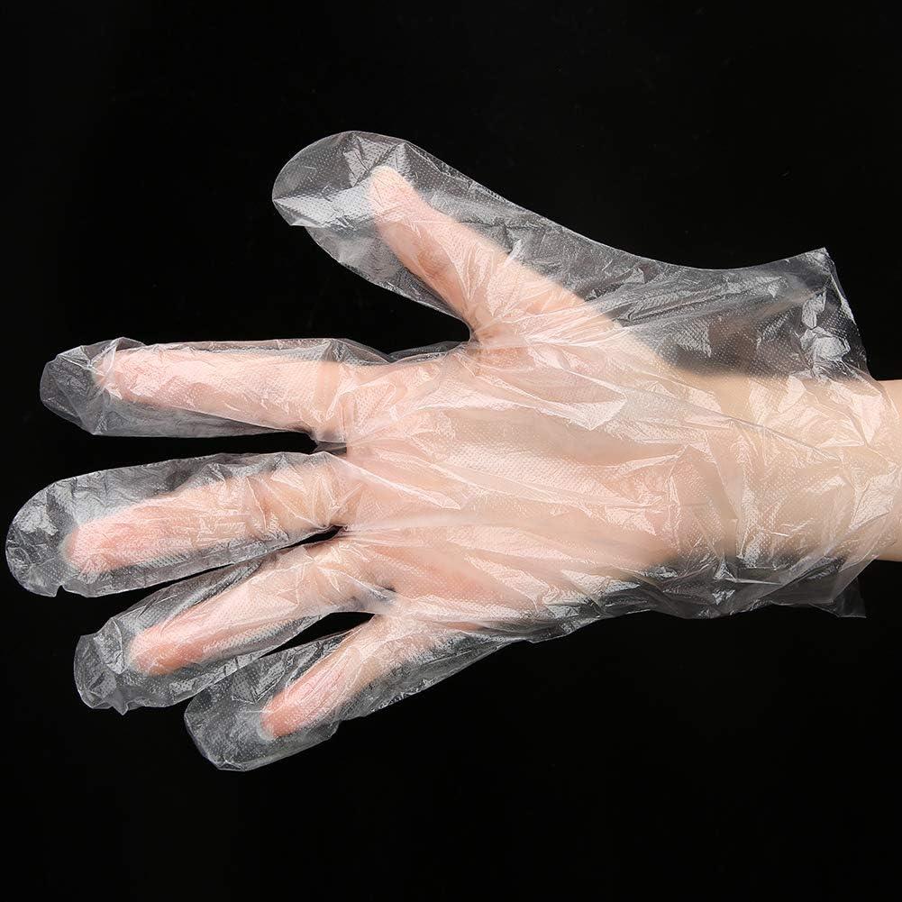200 pcs//bo/îte de Qualit/é Alimentaire Transparent Gants Jetables PE mat/ériel /Épaissir Sanitaire En Plastique Gants De Protection