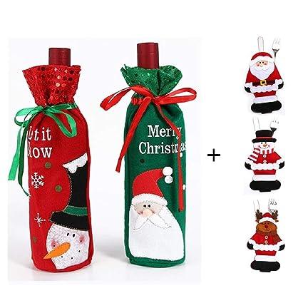 Amazon Com Shinon 5pcs Christmas Table Decorations Set 2pcs Santa