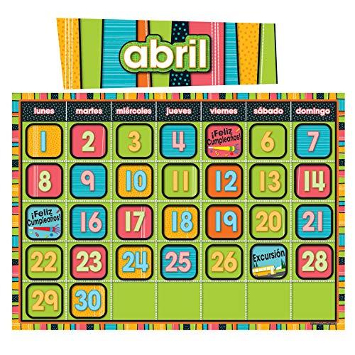 Carson Dellosa Stylin' Stripes Spanish Calendar (110214)