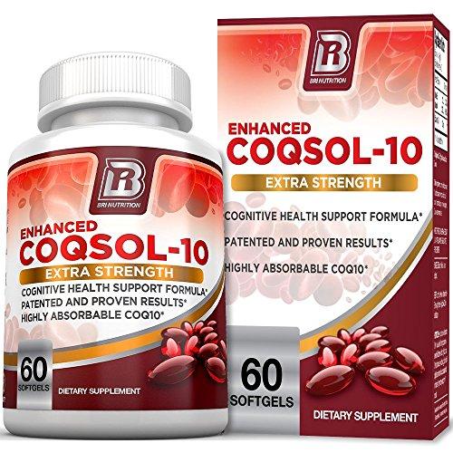 BRI Nutrition COQ10 100mg Ubiquinone Heart Health - 2.6x Higher Total Coenzyme Q10 COQSOL Absorption than normal COQ10 100mg Maximum Strength Supplement - 60 Day Supply 60 Softgels