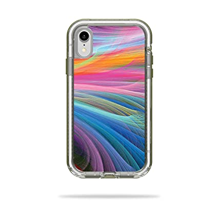 timeless design 85598 2806c MightySkins Skin for LifeProof Next iPhone XR Case - Rainbow Waves |  Protective, Durable, and Unique Vinyl Decal wrap Cover | Easy to Apply,  Remove, ...