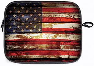 "American Flag Us Rusty 13"" Laptop Sleeve Bag Compatible with MacBook Pro,MacBook Air,Notebook Comput"