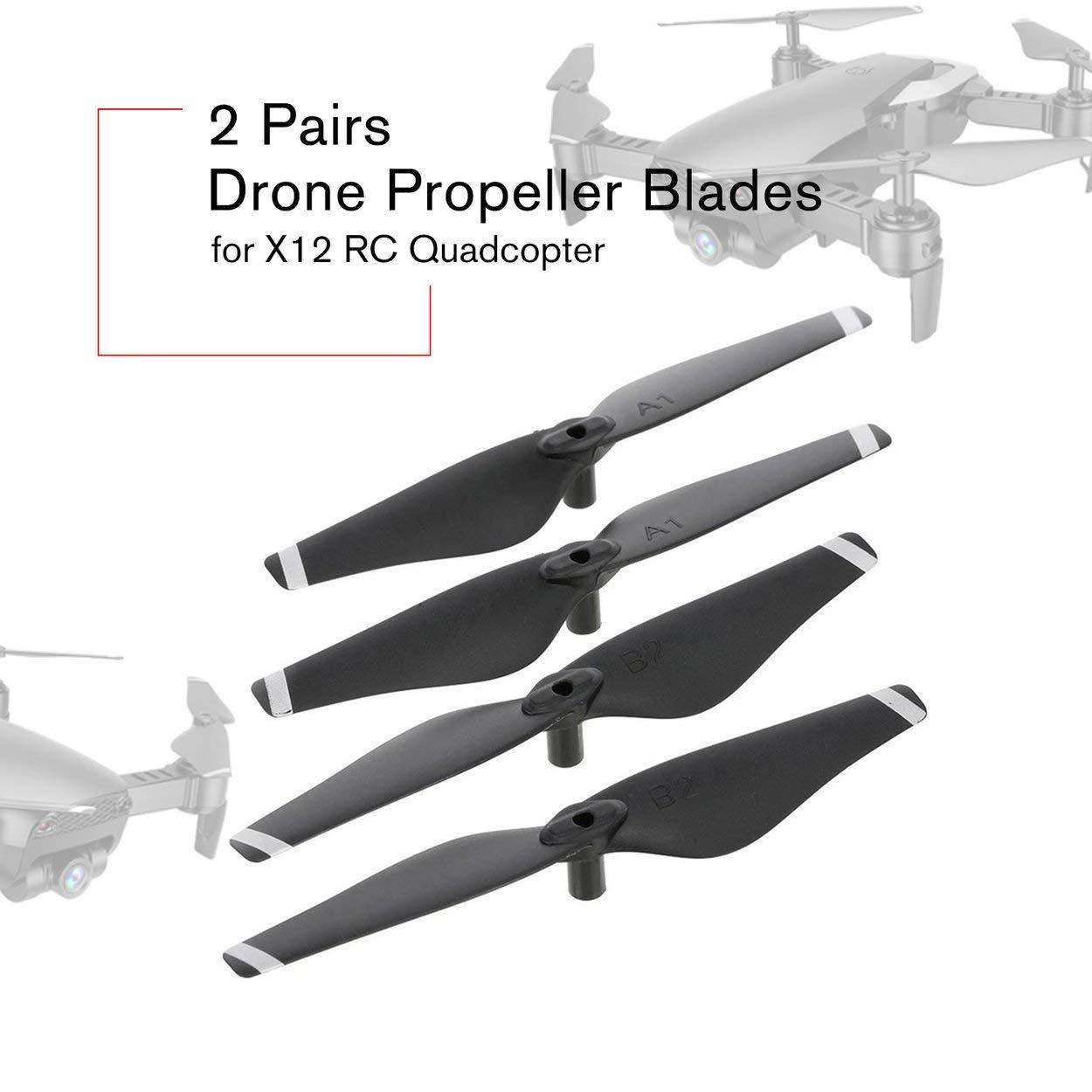 Lorenlli 2 Pares Drone CW/CCW hélices Palas de liberación rápida ...