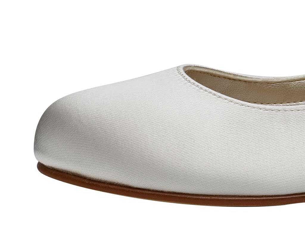78951fea3e97 Rainbow Club Girls Ivory Satin Wedge Bridesmaid Communion Shoes - Skyla   Amazon.co.uk  Shoes   Bags