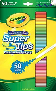 Crayola Super Tips Washable Markers, School Supplies, Gift, 50 Count