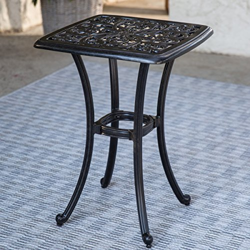 Belham Living San Miguel Cast Aluminum Gathering Height Side Table