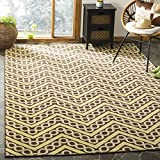 Safavieh Hampton Collection HAM513AB Brown and Ivory Indoor/Outdoor Area Rug (4′ x 6′) For Sale