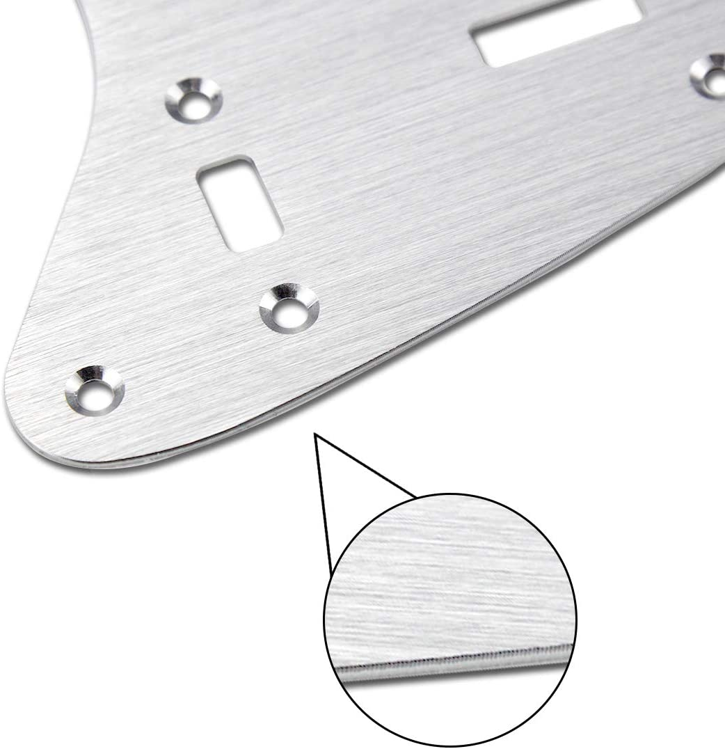 FLEOR 65 60s Vintage Pickguard Golden Color Guitar Scratch Plate w//Screws Fit American//Mexican Made Vintage Style Jazzmaster Pickguard Replacement