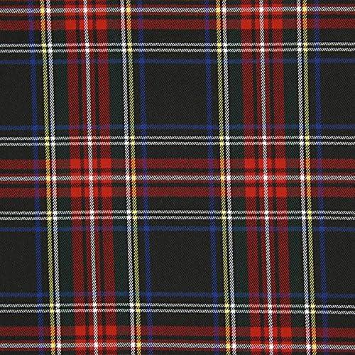 Fabulous Fabrics Tela Escocesa Tartán Cuadro Grande – Negro ...