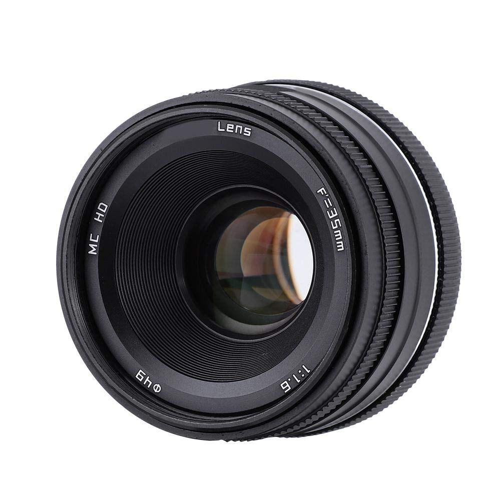 Prime Lens,Avouyo 35mm F1.6 Manual APS-C Mirrorless Prime Camera Lens for EOS-M for Sony-E for M4//3 for Fuji-X for Sony-E